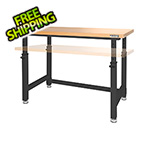 Seville Classics UltraHD Height Adjustable Heavy-Duty Wood Top Workbench