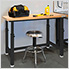 UltraHD Height Adjustable Heavy-Duty Wood Top Workbench
