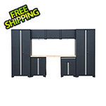 GStandard 8-Piece Garage Cabinet Set in Black