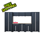 GStandard 9-Piece Garage Cabinet Set in Black