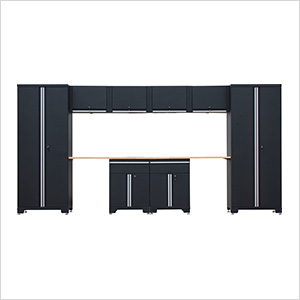 10-Piece Garage Cabinet Set in Black