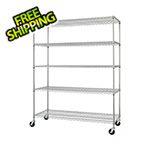 Trinity Chrome 5-Tier Wire Shelving Rack