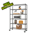 Trinity Black 6-Tier Wire Shelving Rack