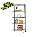 Trinity Black 5-Tier Wire Shelving Rack