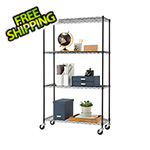 Trinity Black 4-Tier Wire Shelving Rack