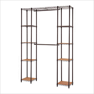 Bronze Expandable Closet System Organizer
