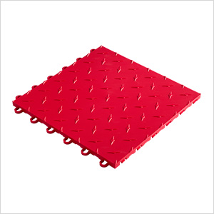 "12"" x 12"" Bright Red Garage Floor Tile"