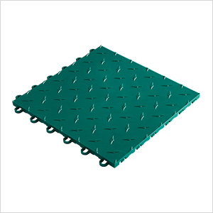 "12"" x 12"" Emerald Green Garage Floor Tile"
