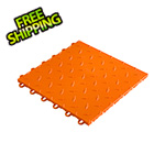 "Speedway Garage Tile 12"" x 12"" Orange Garage Floor Tile"