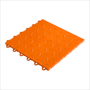 "12"" x 12"" Orange Garage Floor Tile"
