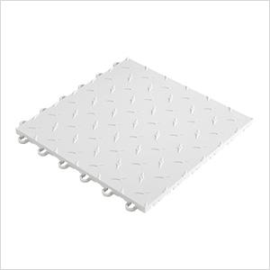 """12"""" x 12"""" White Garage Floor Tile"""