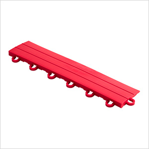 Bright Red Garage Floor Tile Ramp - Looped