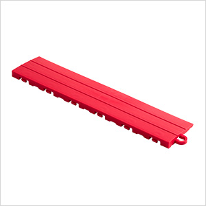 Bright Red Garage Floor Tile Ramp - Pegged