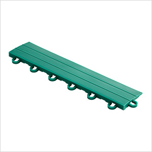 Emerald Green Garage Floor Tile Ramp - Looped