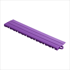 Purple Garage Floor Tile Ramp - Pegged