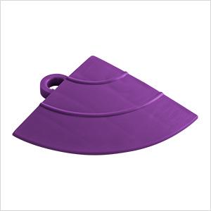 Purple Garage Floor Tile Ramp Corner