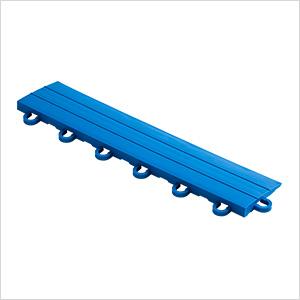 Royal Blue Garage Floor Tile Ramp - Looped