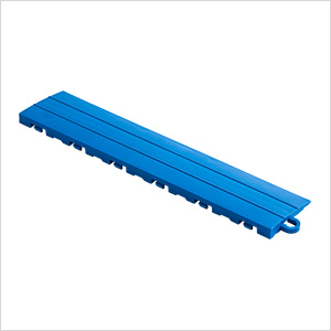 Royal Blue Garage Floor Tile Ramp - Pegged