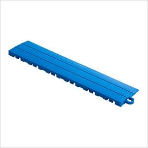 Royal Blue Garage Floor Tile Ramp - Pegged