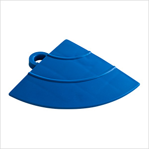 Royal Blue Garage Floor Tile Ramp Corner