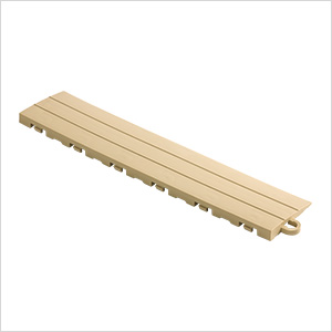 Sand Garage Floor Tile Ramp - Pegged