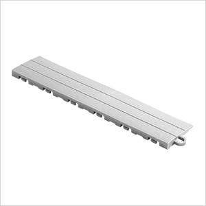 Silver Garage Floor Tile Ramp - Pegged