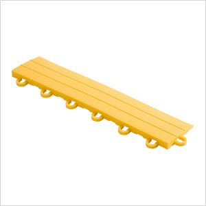 Sunny Yellow Garage Floor Tile Ramp - Looped