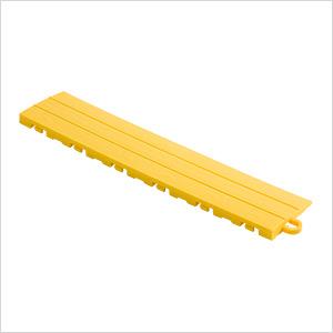 Sunny Yellow Garage Floor Tile Ramp - Pegged