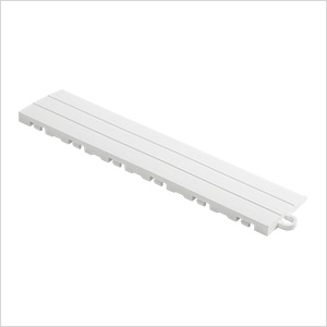 White Garage Floor Tile Ramp - Pegged