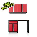 DuraCabinet Pro Series III 4 Piece Red Garage Cabinet Set