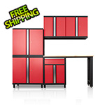 DuraCabinet Pro Series III 6 Piece Red Garage Cabinet Set