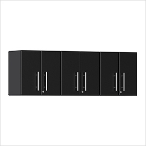 3-Piece Garage Wall Cabinet Kit in Midnight Black Metallic
