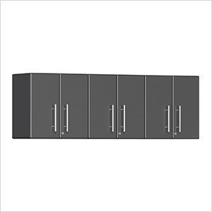 3-Piece Garage Wall Cabinet Kit in Graphite Grey Metallic
