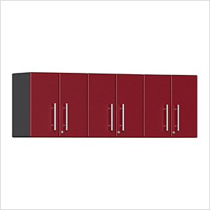 3-Piece Garage Wall Cabinet Kit in Ruby Red Metallic
