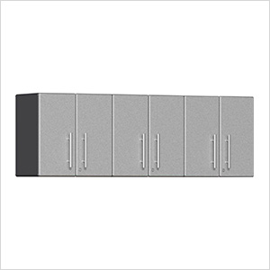 3-Piece Garage Wall Cabinet Kit in Stardust Silver Metallic