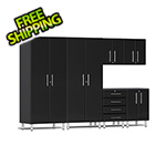 Ulti-MATE Garage Cabinets 6-Piece Cabinet Kit in Midnight Black Metallic