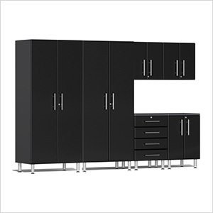 6-Piece Cabinet Kit in Midnight Black Metallic