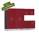 Ulti-MATE Garage Cabinets 6-Piece Cabinet Kit in Ruby Red Metallic