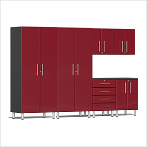 6-Piece Cabinet Kit in Ruby Red Metallic