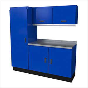 Select Series 6-Piece Aluminum Garage Cabinet Set (Blue)