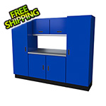 Moduline Select Series 7-Piece Aluminum Garage Cabinet Set (Blue)