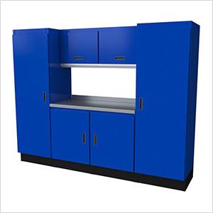 Select Series 7-Piece Aluminum Garage Cabinet Set (Blue)