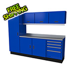 Moduline Select Series 8-Piece Aluminum Garage Cabinet Set (Blue)
