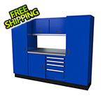 Moduline Select Series 7-Piece Aluminum Garage Cabinet Set (Blue)