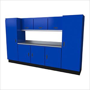 Select Series 9-Piece Aluminum Garage Cabinet Set (Blue)