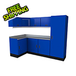 Moduline Select Series 10-Piece Aluminum Garage Cabinet Set (Blue)