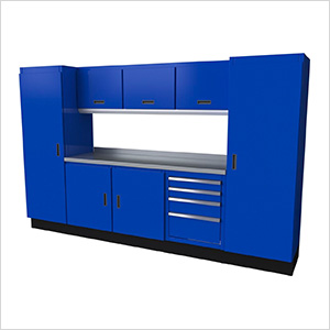 Select Series 9-Piece Aluminum Garage Cabinet Set (Blue)