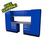 Moduline Select Series 9-Piece Aluminum Garage Cabinet Set (Blue)