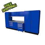 Moduline Select Series 11-Piece Aluminum Garage Cabinet Set (Blue)