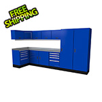 Moduline Select Series 14-Piece Aluminum Garage Cabinet Set (Blue)